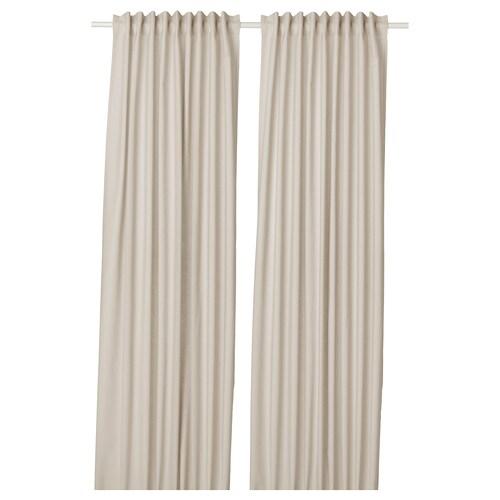 ANNALOUISA curtains, 1 pair beige 300 cm 145 cm 1.85 kg 4.63 m² 2 pack