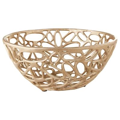 ARBETE Decorative bowl, brass-colour, 32 cm