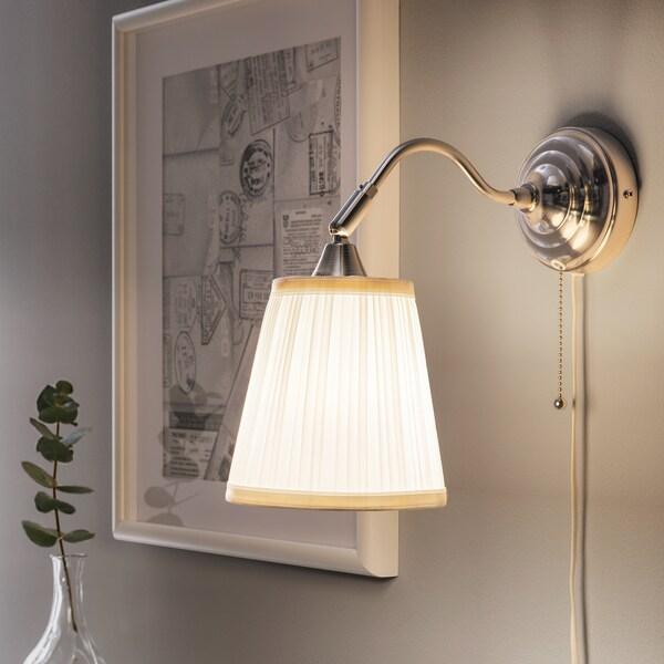 ÅRSTID مصباح حائط, طلاء - نيكل/أبيض