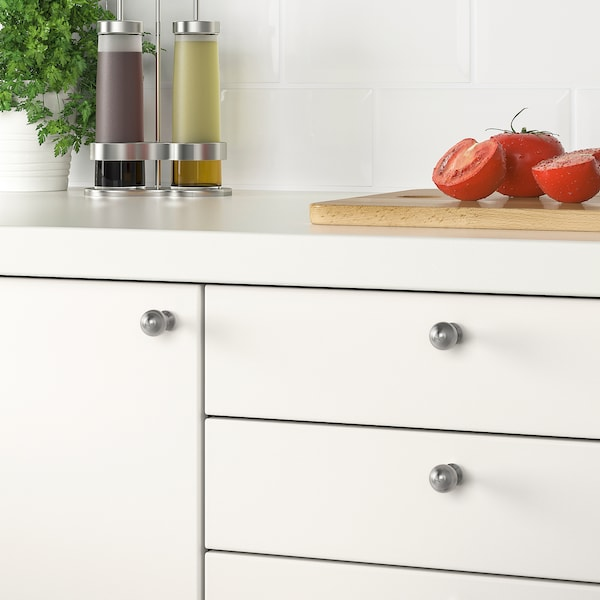 BAGGANÄS Knob, stainless steel, 20 mm