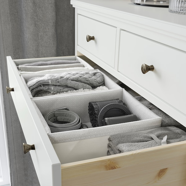 BAXNA Organiser, grey/white, 26x34x10 cm