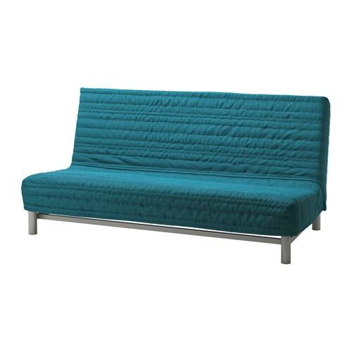 BEDDINGE LVS Three seat Sofa bed Knisa Turquoise IKEA