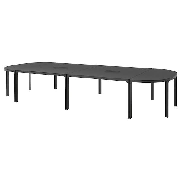 BEKANT conference table black stained ash veneer/black 420 cm 140 cm 73 cm 100 kg
