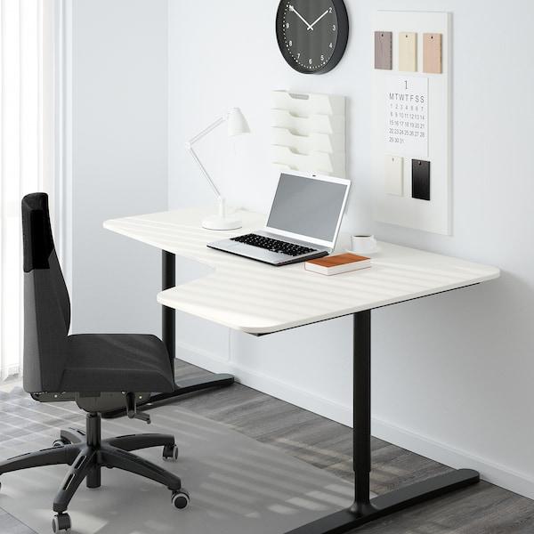 BEKANT سطح طاولة، زاوية يمين, أبيض, 160x110 سم