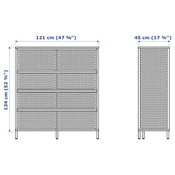BEKANT Shelving unit, white, 121x134 cm
