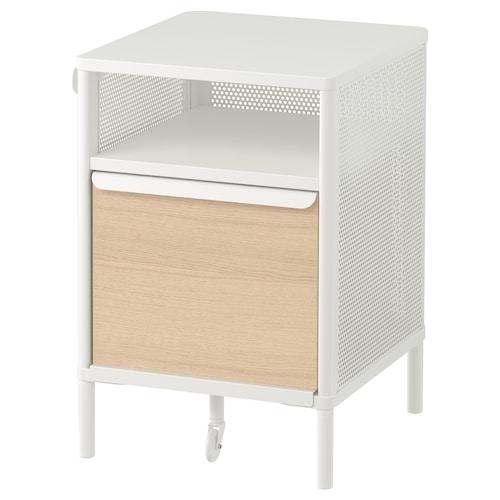 BEKANT storage unit on legs mesh white 41 cm 45 cm 61 cm