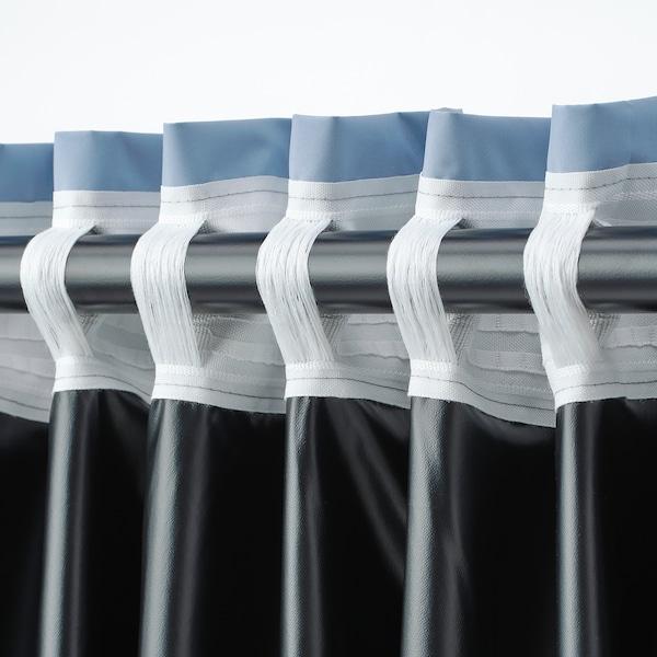 BENGTA Block-out curtain, 1 length, blue, 210x300 cm