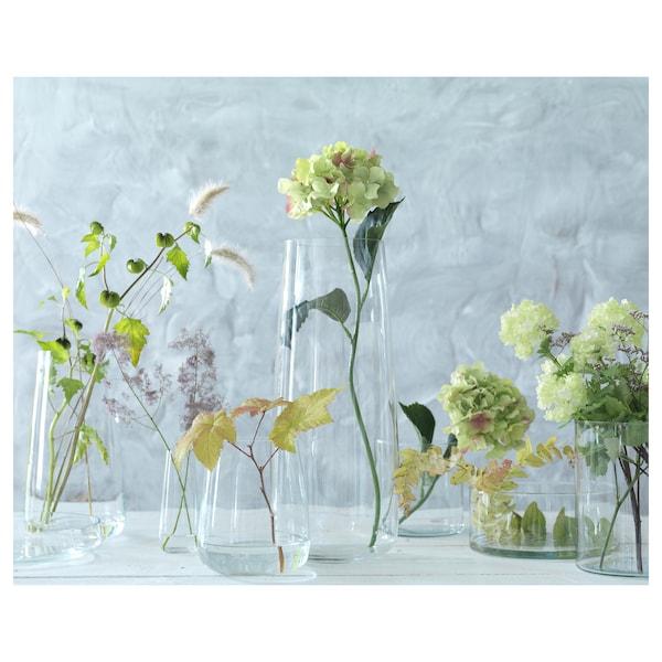 BERÄKNA Vase, clear glass, 15 cm