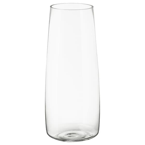 BERÄKNA Vase, clear glass, 45 cm