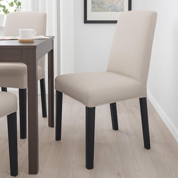 BERGMUND Chair, black/Hallarp beige