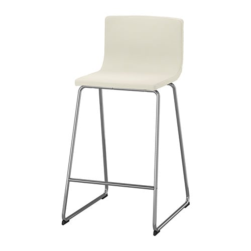 Bernhard Bar Stool With Backrest Ikea