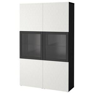 Colour: Black-brown/vassviken white clear glass.