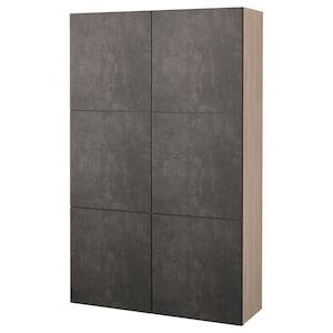 Colour: Grey stained walnut effect kallviken/dark grey concrete effect.