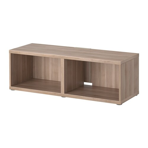 Best tv bench grey stained walnut effect ikea - Ikea besta structuur ...