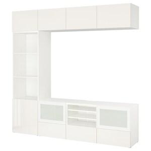 Colour: White/selsviken high-gloss/white frosted glass.