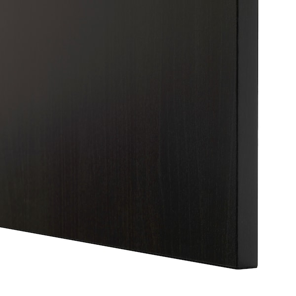 BESTÅ Wall-mounted cabinet combination, black-brown/Lappviken, 120x42x38 cm