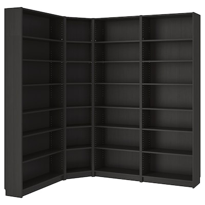 BILLY Bookcase, black-brown, 215/135x28x237 cm