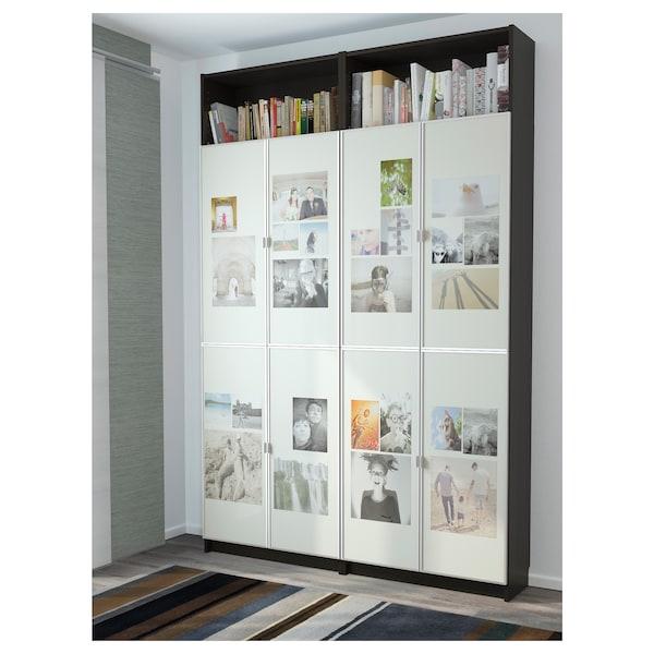 BILLY / MORLIDEN Bookcase, black-brown, 160x30x237 cm