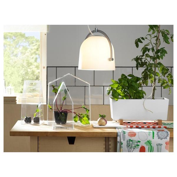 BITTERGURKA Plant pot, white, 32x15 cm