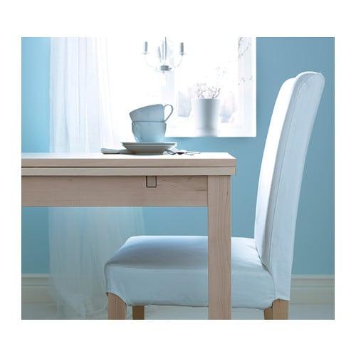 Extendable Table bjursta extendable table - brown - ikea