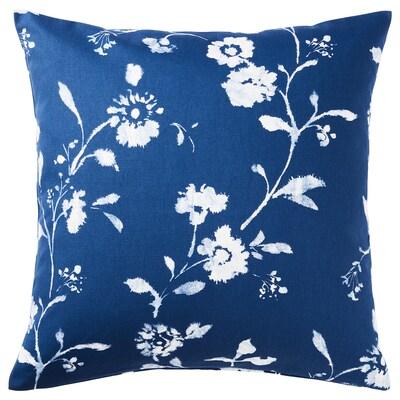 BLÅGRAN غطاء وسادة, أزرق/أبيض, 50x50 سم