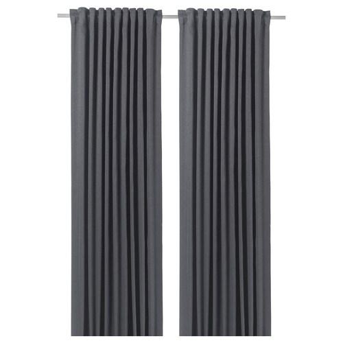BLÅHUVA block-out curtains, 1 pair blue-grey 300 cm 145 cm 3.19 kg 4.35 m² 2 pack
