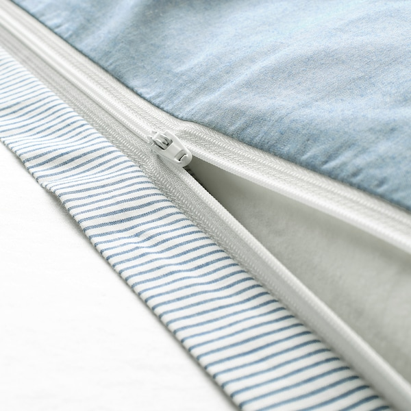 BLÅVINDA غطاء لحاف/مخدة, أزرق فاتح, 150x200/50x80 سم