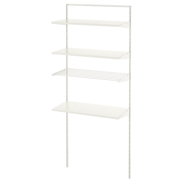 BOAXEL 1 section, white, 82x40x201 cm