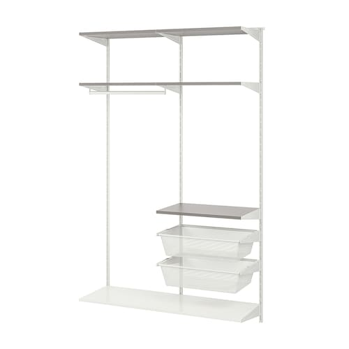 BOAXEL 2 sections white/grey 122.0 cm 40.0 cm 200.6 cm