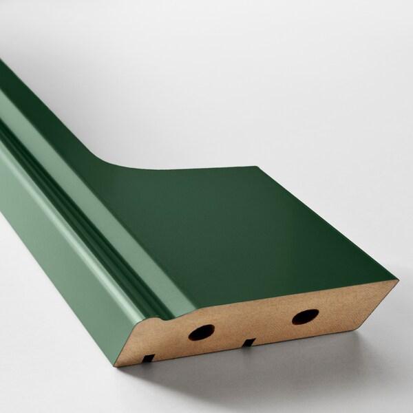 BODBYN Decorative plinth with cut-out, dark green, 66x8 cm