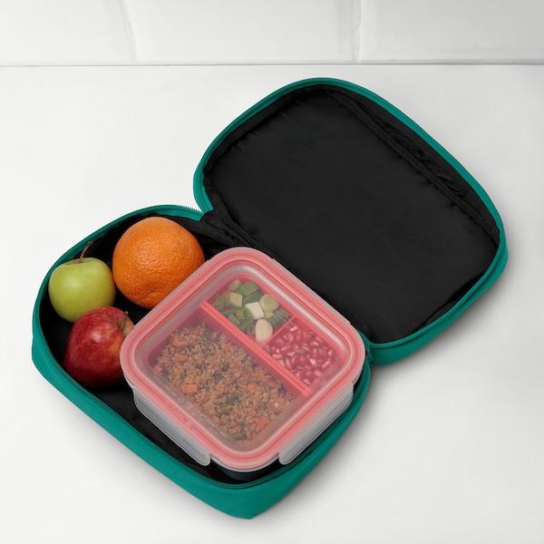 BOKKREMLA Lunch bag, green, 23x15x8 cm
