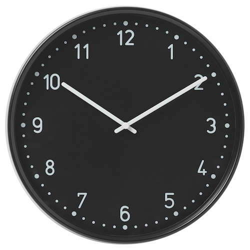 BONDIS wall clock black 6 cm 38 cm