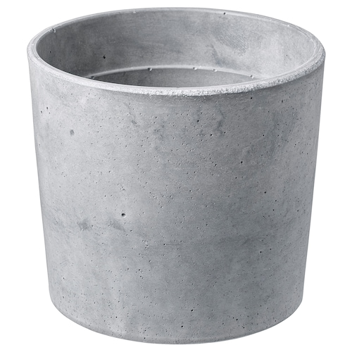 BOYSENBÄR plant pot in/outdoor light grey 13 cm 14 cm 12 cm 13 cm