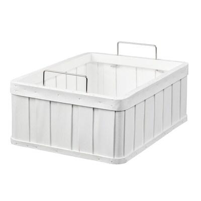 BRANKIS Basket, white, 36x27x13 cm