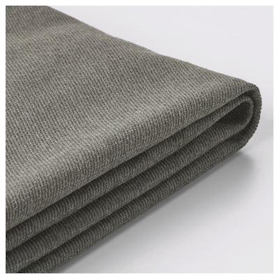 BRÅTHULT غطاء كنبة ثلاث مقاعد, Borred رمادي-أخضر