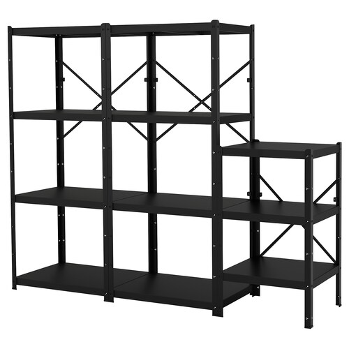 BROR shelving unit black 234 cm 55 cm 190 cm