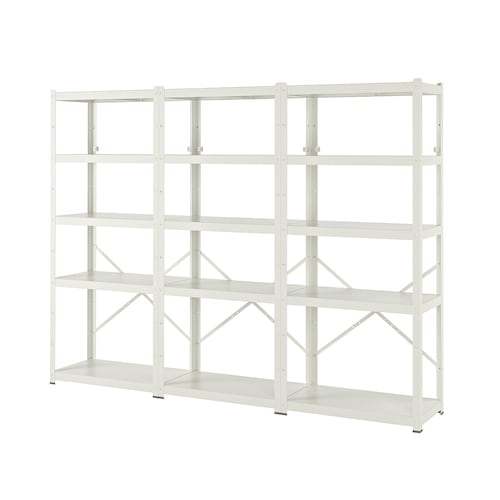 BROR shelving unit white 254 cm 40 cm 190 cm