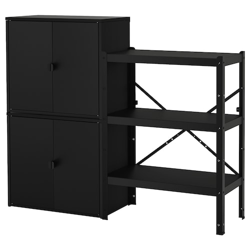 BROR shelving unit with cabinets 161 cm 40 cm 133 cm