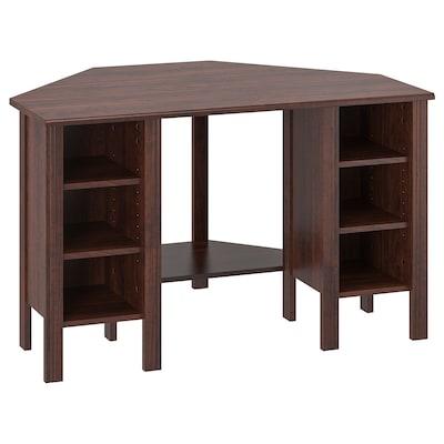 BRUSALI Corner desk, brown, 120x73 cm