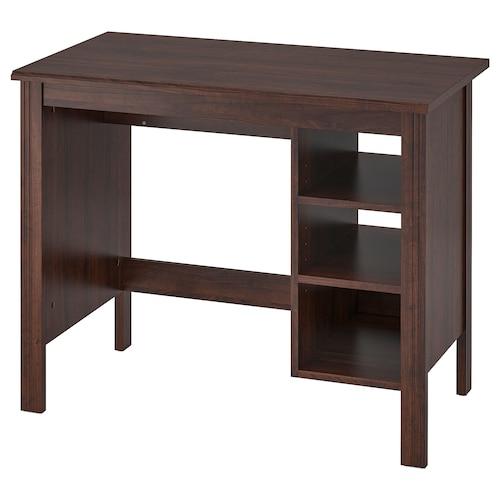 BRUSALI desk brown 90 cm 52 cm 73 cm