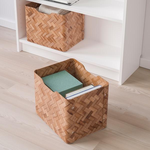BULLIG Box, bamboo/brown, 25x32x25 cm