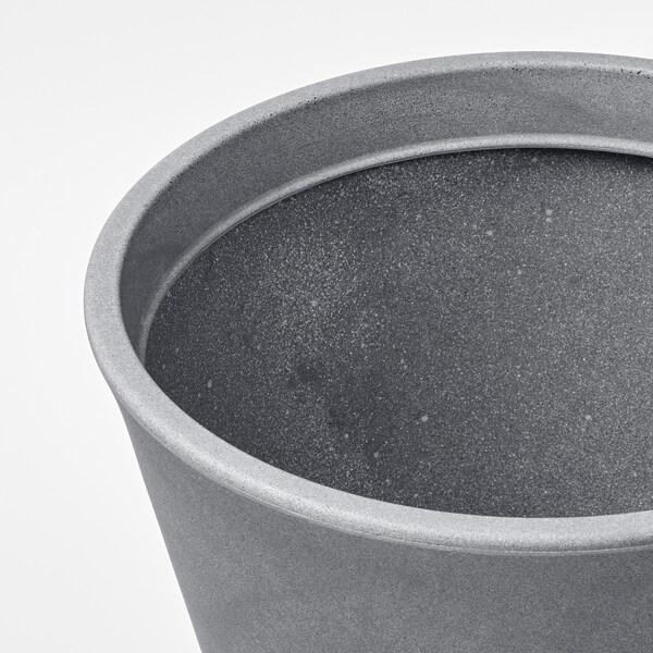 CITRUSKRYDDA Plant pot, in/outdoor grey, 35 cm