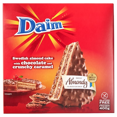 DAIM Almond cake chocolate and crunch