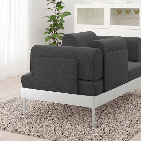 DELAKTIG 2-seat sofa, Hillared anthracite