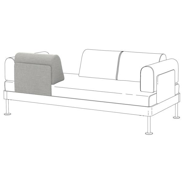DELAKTIG Backrest with cushion, Tallmyra white/black