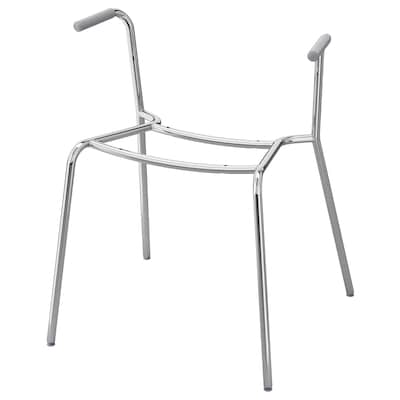 DIETMAR Underframe for chair with armrests, chrome-plated