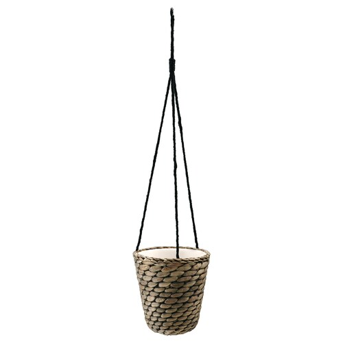 DRUVFLÄDER hanging planter water hyacinth/grey 18 cm 17 cm 14 cm 15 cm