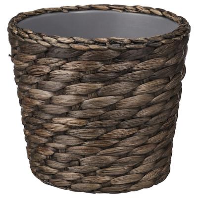 DRUVFLÄDER Plant pot, water hyacinth/grey, 12 cm