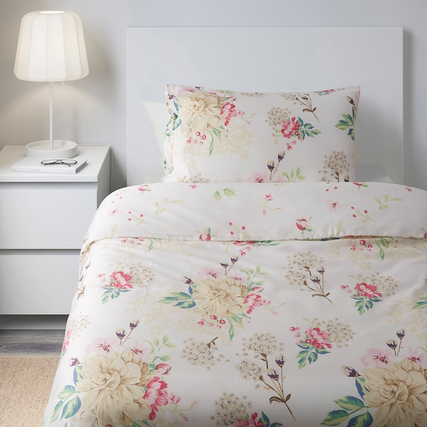 DYBLAD Quilt cover and pillowcase, multicolour, 150x200/50x80 cm