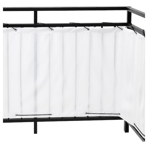 DYNING balcony privacy screen white 250 cm 80 cm